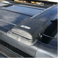 Багажник на крышу Inter Aerostar R-42 для Chevrolet Lacetti 1 2004-2013 универсал, черный
