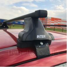 Багажник на крышу Inter для Nissan Tiida 2007-2014 седан за дверной проем, прямоугольные дуги