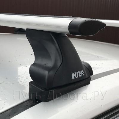 Багажник на крышу Inter для Mazda CX-5 2 2016-2020 в штатные места, дуги аэро-крыло