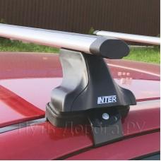 Багажник на крышу Inter для Toyota Camry XV70 2017-2020 за дверной проем, аэродинамические дуги