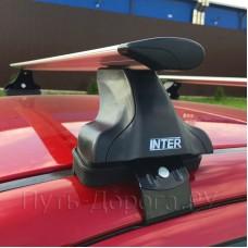 Багажник на крышу Inter для Kia Rio 4 седан 2017-2019, дуги аэро-крыло