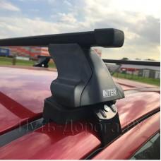 Багажник на крышу Inter для Mitsubishi Lancer 10 2007-2011, прямоугольные дуги