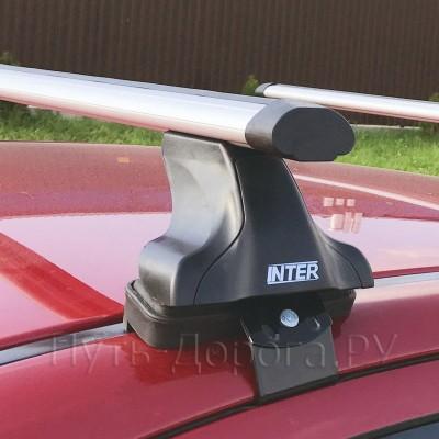 Багажник на крышу Inter для Chevrolet Cruze J300 седан 2009-2012 за дверной проем, аэродинамические дуги