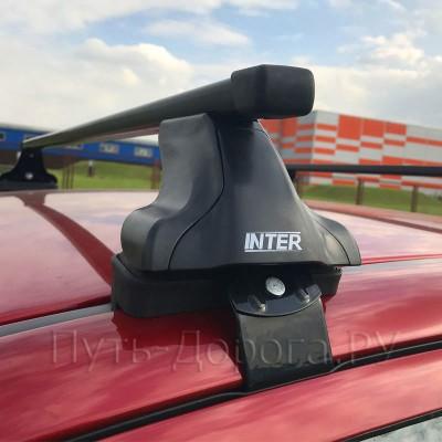 Багажник на крышу Inter для Chevrolet Cruze J300 седан 2012-2015 за дверной проем, прямоугольные дуги