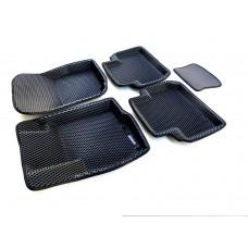 Коврики Euromat 3D EVA с бортиками для Mitsubishi Outlander XL 2006-2012, 3 2012-2020, Citroen C-Crosser 2007-2012, Peugeot 4007 2007-2014