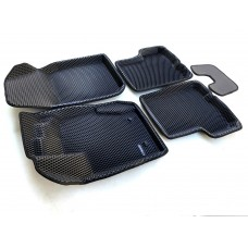Коврики Euromat 3D EVA с бортиками для Renault Duster 2010-2014, Nissan Terrano 2011-2014