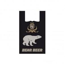 Пакет-майка 30*55 см, 16 мкм, Белый медведь, 100 шт.