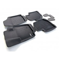 Коврики Euromat 3D EVA с бортиками для Skoda Rapid 2014-2020-, Volkswagen Polo 2020-