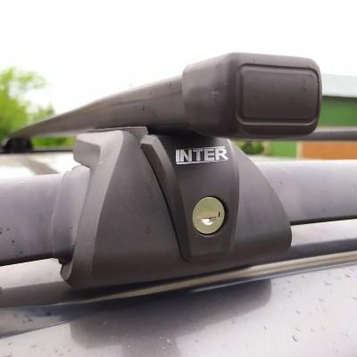 Багажник на рейлинги Inter Titan для Chevrolet Niva 2002-2009 с замками, прямоугольные дуги