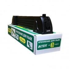 Крепление для лыж Inter на 3 пары или 2 сноуборда, цвет черный